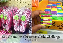 Operation Christmas Child Packing Party / by Dominique Batt