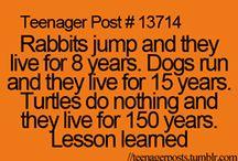 Teenagery stuffs
