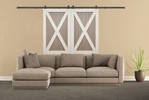 Barn Doors / Utilizing sliding barn doors as shutter panels is revolutionary! This innovative product line gives you a modern window treatment that is both functional and beautiful. http://sunburstshutters.com/barn-doors