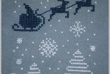 vianoce - vyšívanie