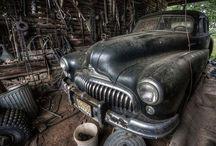 övergivna bilar
