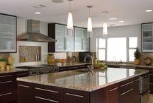 Kitchen & Powder Bath Remodel / Cabinet Design by: NIcki Kana