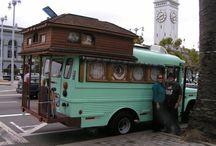Rubbertramp / A small trailer, a robust truck, my kitties, plus rocks & string.