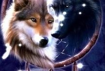 Wolf Tattoo / Inspiration for my wolf tattoo I want on my back or side of my thigh.