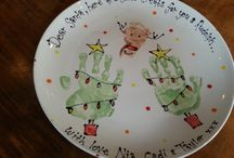 Toddler handprint Christmas cards and crafts / Ideas for cute handprint Christmas cards and gifts