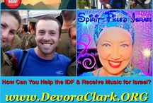 "Show your love for Israel and its Peoples / DeVora Clark helps Israel by giving her music tracks from her new CD, ""Spirit-Filled Israel""! / by Devora Clark"