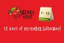12 Days of December Giveaway! / 12 Days of December Giveaway! Please visit The Sneaky Chef on Facebook December 1st thru 12th for a chance to win fun prizes!