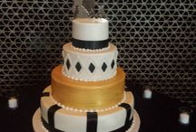 Creme with Black and Gold accents