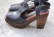 Shoes, Straw & Wooden Look