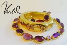Stones & Jewelry / Add a glimmer to your jewelry box with Vaubel Design's jewelry embedded with stones!