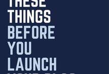Blogging | Launching / #blog #launch #entrepreneur #business