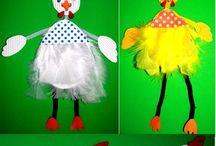 knutselen kippen / pasen