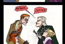 HP Arthur Weasley & Lucius Malfoy