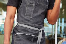 Bronx Denim Aprons / Edgy, rich, cosmopolitan, and multi- functional.