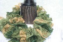 Fall Fall Fall / Handknit  Fashion/New  Style  Scarves/Shawls / by designbyelena