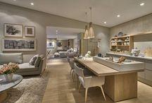 salas e cozinhas integradas