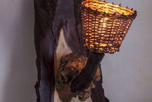 """Rustic Handmade Wall Lamp """"Fire"""" / www.natureistheartist.webgarden.ro"""