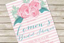 bridal showers invitations