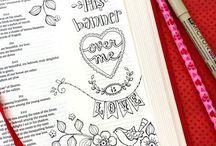 """Bible Journaling / The """"art"""" of worship."""