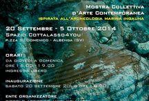 Mediterranean Underwater / Mostra d'Arte Contemporanea 2014 presso lo spazio Cottalasso4You di Albenga SV) con 12 artisti europei ed internazionali.