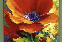 poppies / NATUREART week #22 #natureartegyevenat2017 www.artbyildy.com/natureart free year long inspiration course closed fb group: https://www.facebook.com/groups/Natureartegyevenat2017