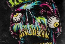Skull art and street art
