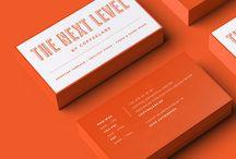 Qrious Lab.: Biz Card - orange