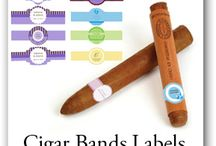 Cigar and Soap Bands / Personalize and PRINT your own labels, favor tags, bottle labels, wedding invitations, note cards, 6 pack carriers with your own text, color, texture photos