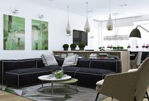 Interior Design / Green interior design ideas. The colour green, that is.