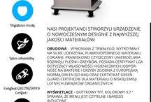 Infografiki | Infographics / Infografiki - ilustracyjne przedstawienie naszych innowacyjnych urządzeń | Iillustrations which tells more about our innovative devices - in Polish