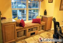 Creative Uses for Cabinets / Cabinets don't have to be just used in the kitchen or bathroom to be useful! There are many places in your home where you can place cabinets and gain much needed storage – ex. a media cabinet, home bar, or craft room. / by Cabinets.com