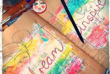 Art - Mixed Media & Art Journaling / Mixed media pieces, art journals & inspirational.