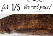 Wood Ceiling & Faux Beams