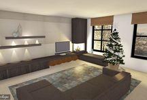 DecoLegno - Tekeningen / Sfeerimpressies van meubels op maat met Decoratief Plaatmateriaal van DecoLegno by Cleaf.