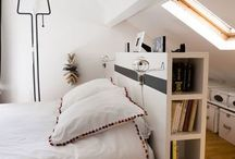 Bett und in 1 Raum