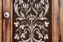 Stenciling / Different types of stencils and Inspiration for stenciling projects.