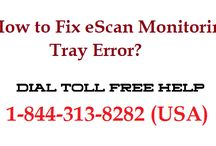 How to Solve Escan Monitoring Tray Error?