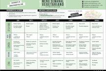 menús semanales vegetarianos