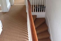Staircase In Carpet / Client: Private Residence In East London. Brief: To supply & install carpet to stairs.