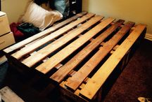 Pallet Pieces / Free pallets / beer crates reused and recycled