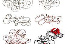 szöveg Karácsony színes transzfer / text Christmas Vintage transfer transzfer colorful