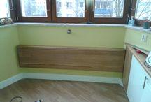 Składany stół / Dębowy (drewno lite) stół składany