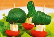 Tomatenschiffchen / Salat