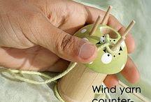 Spool knitting / háčkování na špulce; dutinky