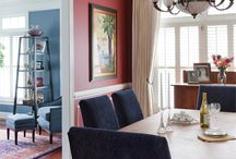 Shanon Munn, ASID | Amanda Welch, Allied ASID / AMBI Design Studio - TOP INTERIOR DESIGNER H&D PORTFOLIO - DC/MD/VA - http://www.handd.com/AmbiDesignStudio - Ambi Design Studio's projects reflect its varied clientele. Munn studies existing pieces and inspiration files, conducts interviews, then shows her selections to the client, making sure to include a wild card.