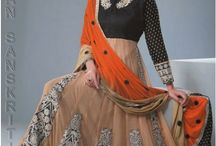 Anarkali Suits / Shop now latest designer indian ethnic, anarkali suits, salwar suits, bridal suits, wedding suits at Indian Sanskriti.