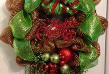 Christmas / Christmas Decor Custom, Hand Made Wreaths by Tangled Wreaths™ ~ Home Decor  https://www.facebook.com/TangledWreaths
