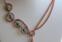 Wire wrap  - Necklaces  /  Проволока - колье / Колье и комплекты из проволоки.