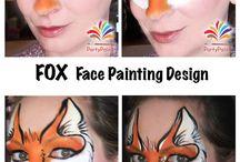 malowane twarze