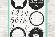 Adventskalender Adventszahlen Bausatz / Ein Stempelset für einen Adventskalender. Die Zahlen können auf den gewünschten Kreisen selber zusammengesetzt werden. Viel Raum für Ideen und Kreativität. Wir wünschen Euch viel Spaß damit